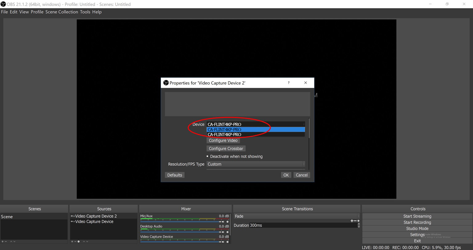 OBS Studio add multiple video capture devices